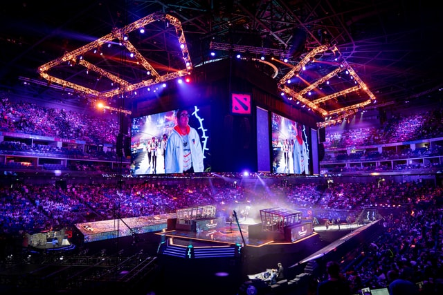 The inside of the arena that hosted The International in 2019. E-sports 2021 competitions are expected to take place.